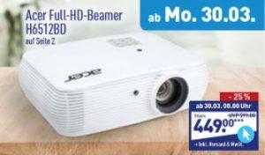 Acer Full-HD-Beamer H6512BD bei Aldi