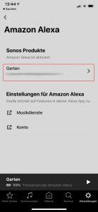 Sonos Move Alexa Ton deaktivieren