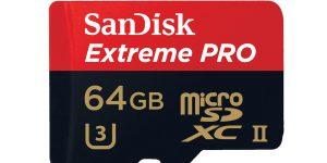 sandisk microSD 64GB XC HC Geschwindigkeit Abkürzung