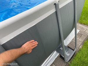 Pool flicken unter Wasser