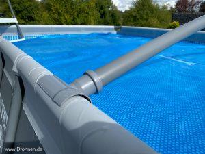 Anleitung Pool Regenabdeckung Rohre