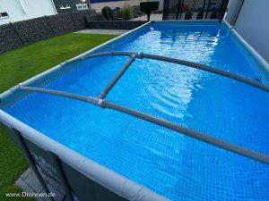 Einwinterung Pool Abdeckung